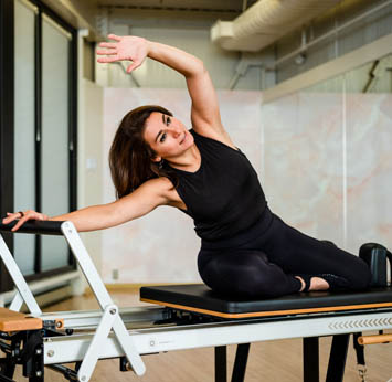 Nina Shirazi, a Pilates instructor at the Toronto Athletic Club