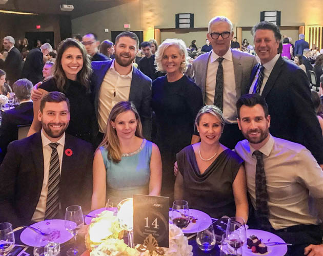 Management team at the Juvenile Diabetes Research Foundation gala